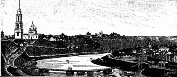 Старинный видъ города Ржева