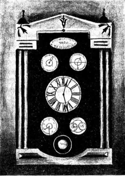 Первые «астрономическіе» часы, сдѣланные Т. И. Волосковымъ