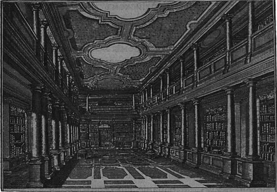 Залъ Публичной Библіотеки въ Петербургѣ