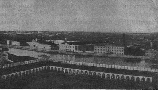 Видъ въ настоящее время Императорскаго оружейнаго завода въ Тулѣ