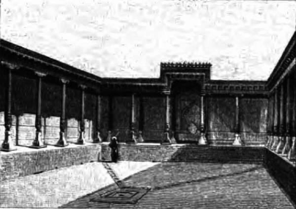 Дворецъ Тамерлана въ Самаркандѣ.