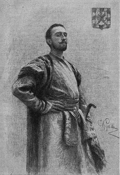 Ѳеодоръ Никитичъ Романовъ. Съ карт. И. Рѣпина.