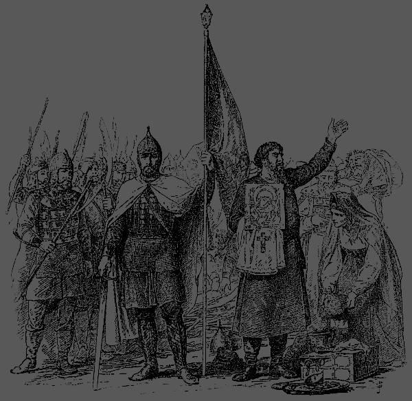 Мининъ и Пожарскій. Съ рисунка В. Верещагина.