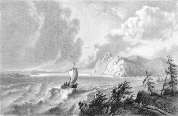Видъ р. Амура у скалистаго берега Дерки.