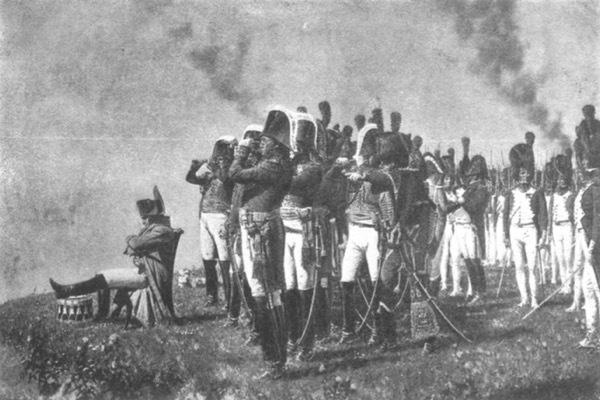 Наполеонъ на Бородинскихъ высотахъ. Съ картины В. В. Верещагина.