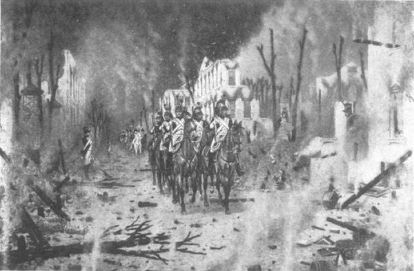 Возвращеніе изъ Петровскаго дворца. Съ картины В. В. Верещагина.
