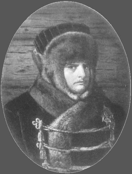 Наполеонъ въ зимнемъ одѣяніи. Съ картины В. В. Верещагина.