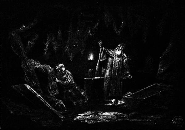 """""""Нѣтъ, неслыханный грѣшникъ! нѣтъ тебѣ помилованія!"""" Рисунокъ В. Маковскаго."""