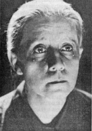 Портрет В. Барановской из фильма «Мать»